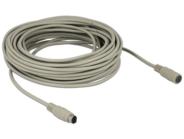 Delock toldó kábel PS/2 dugó > PS/2 aljzat csatlakozókkal, 15m