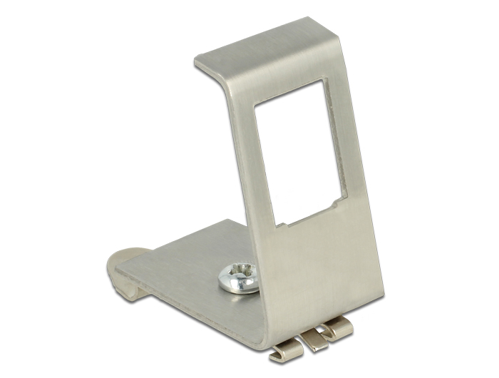 Delock Keystone Metal Mounting 1 Port for DIN rail