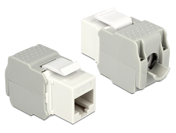 Delock Keystone Module RJ45 female > LSA Cat.6 UTP white