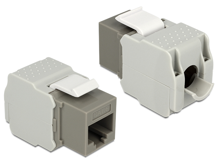 Delock Keystone Module RJ45 female > LSA Cat.6 UTP grey