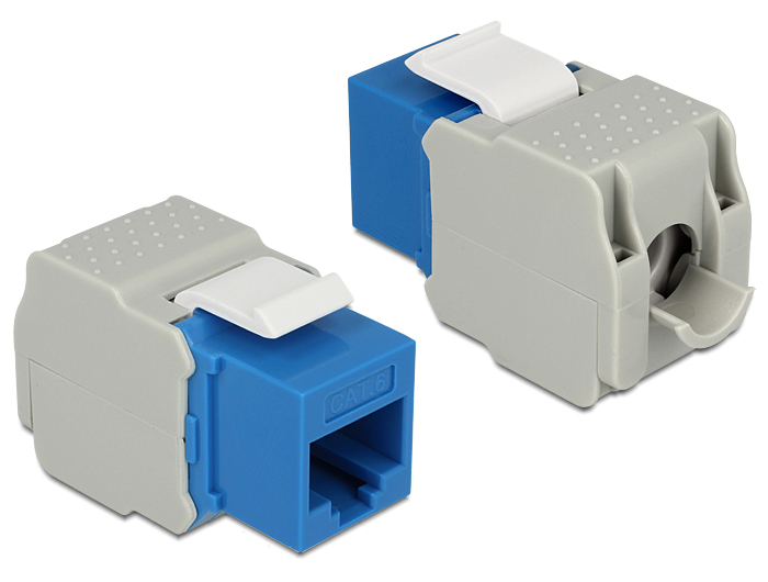 Delock Keystone Module RJ45 female > LSA Cat.6 UTP blue