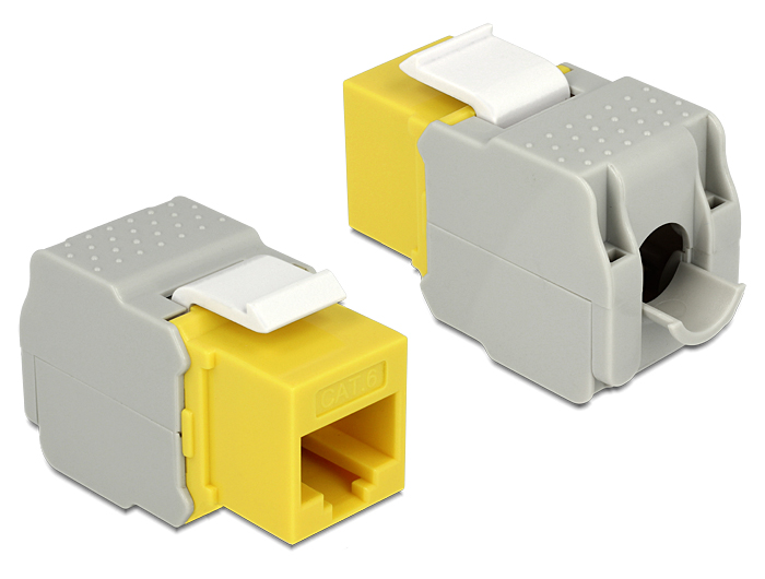 Delock Keystone Module RJ45 female > LSA Cat.6 UTP yellow