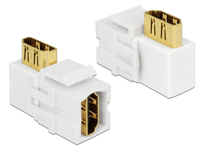 Delock Keystone Module HDMI female > HDMI female 90° angled white