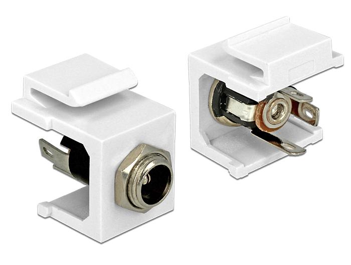 Delock Keystone module DC 5.5 x 2.5 mm socket
