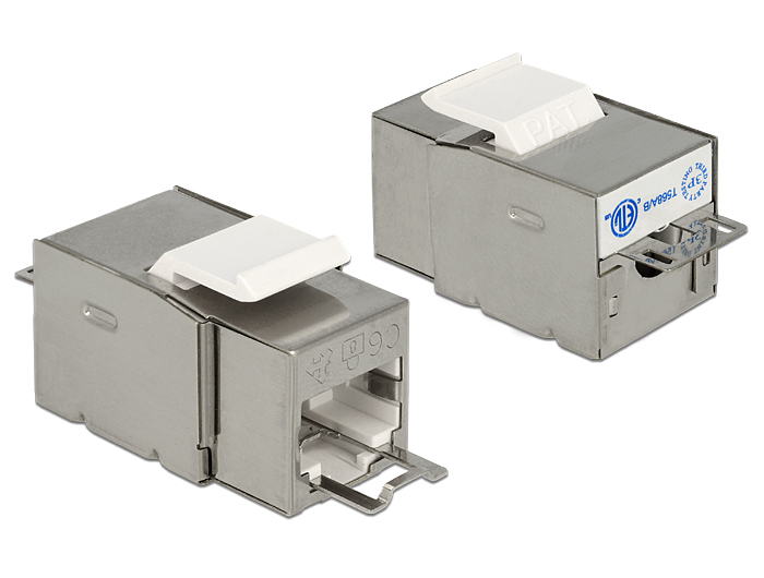 Delock Secure CAT.6 RJ45 - LSA kapocs Keystone modul