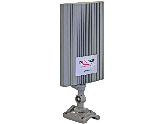 Delock LTE MIMO sáv 1/3/7/20 antenna SMA 2 ~ 4 dBi, mindenirányú, szürke, kültéri