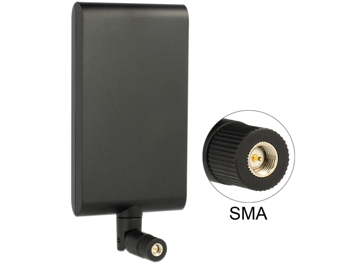 Delock LTE Antenna SMA 1 ~ 4 dBi Directional Rotatable With Flexible Joint Black