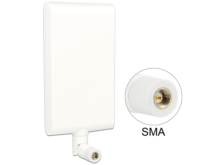 Delock LTE Antenna SMA 1 ~ 4 dBi Directional Rotatable With Flexible Joint White