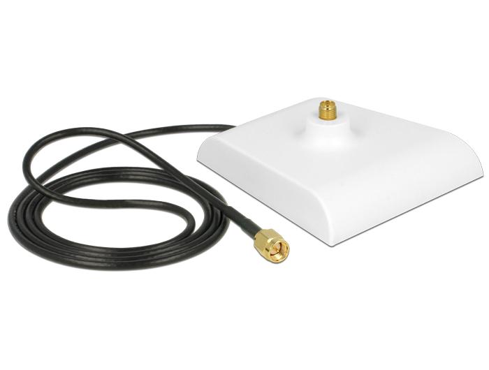 Delock Antenna Base SMA plug > SMA Jack 1 m White Low Loss