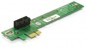 Delock emelő kártya PCI Express x1, 90° balos