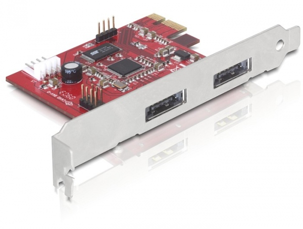 Delock PCI Express Kártya > 2x Power Over eSATA 5V/12V