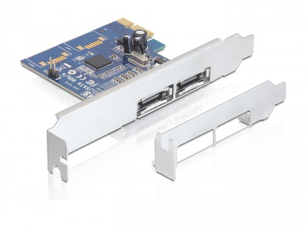 Delock PCI Express Card > 2 x külső eSATA 6 Gb/s