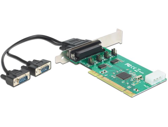 Delock PCI kártya > 2 x soros RS-232 nagy sebességű 921K tápfeszültséggel