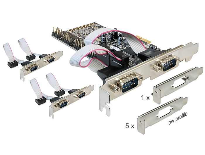 Delock PCI Express Card > 6 x Serial