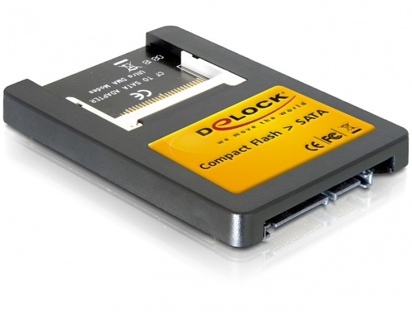 "Delock SATA - Compact Flash meghajtó (2.5"")"