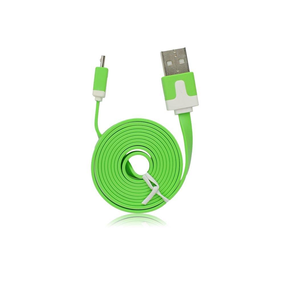 BlueStar USB - microUSB kábel - zöld
