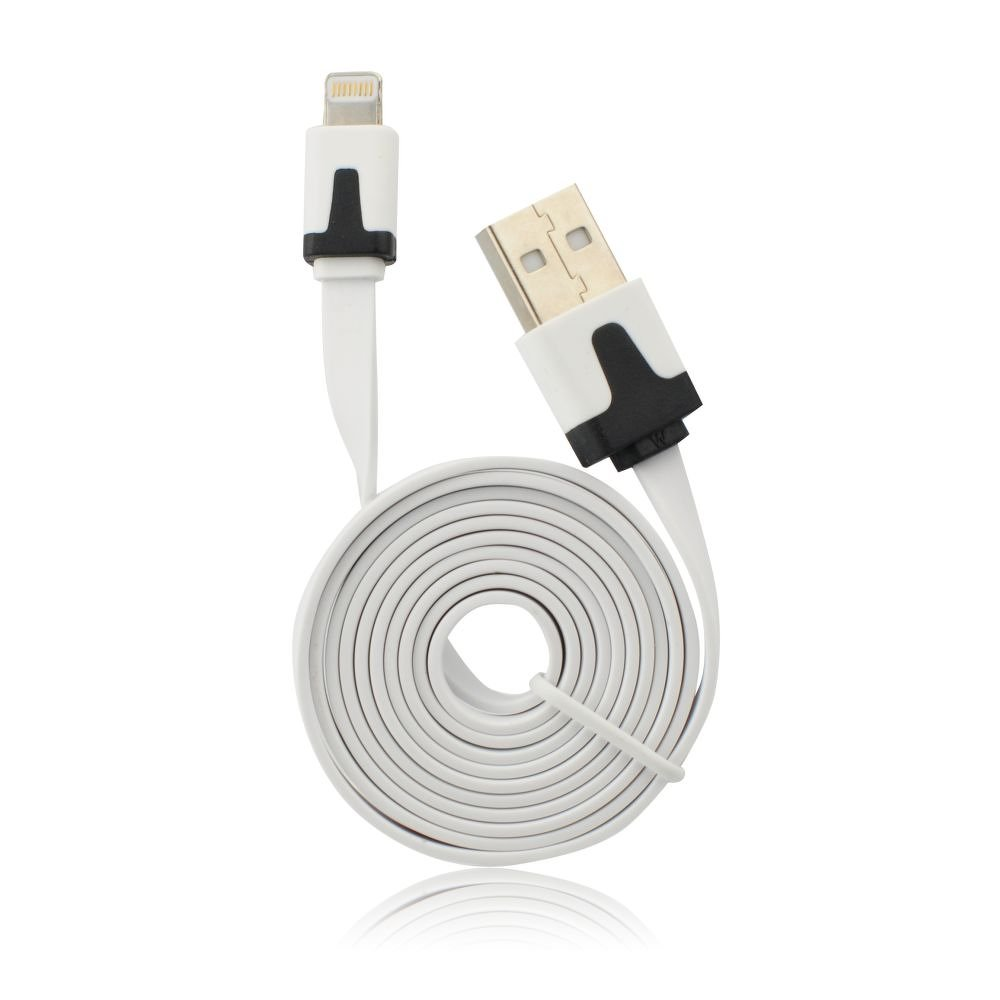 USB - IPHO 5/5C/5S/6/6 Plus/iPAD Mini white iOS8.3 compatible vékony kábel (fehér)