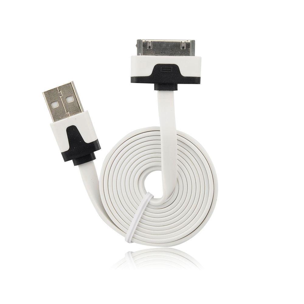 BS USB iPH.3G/3Gs/4/4s fehér kábel (zacskós)