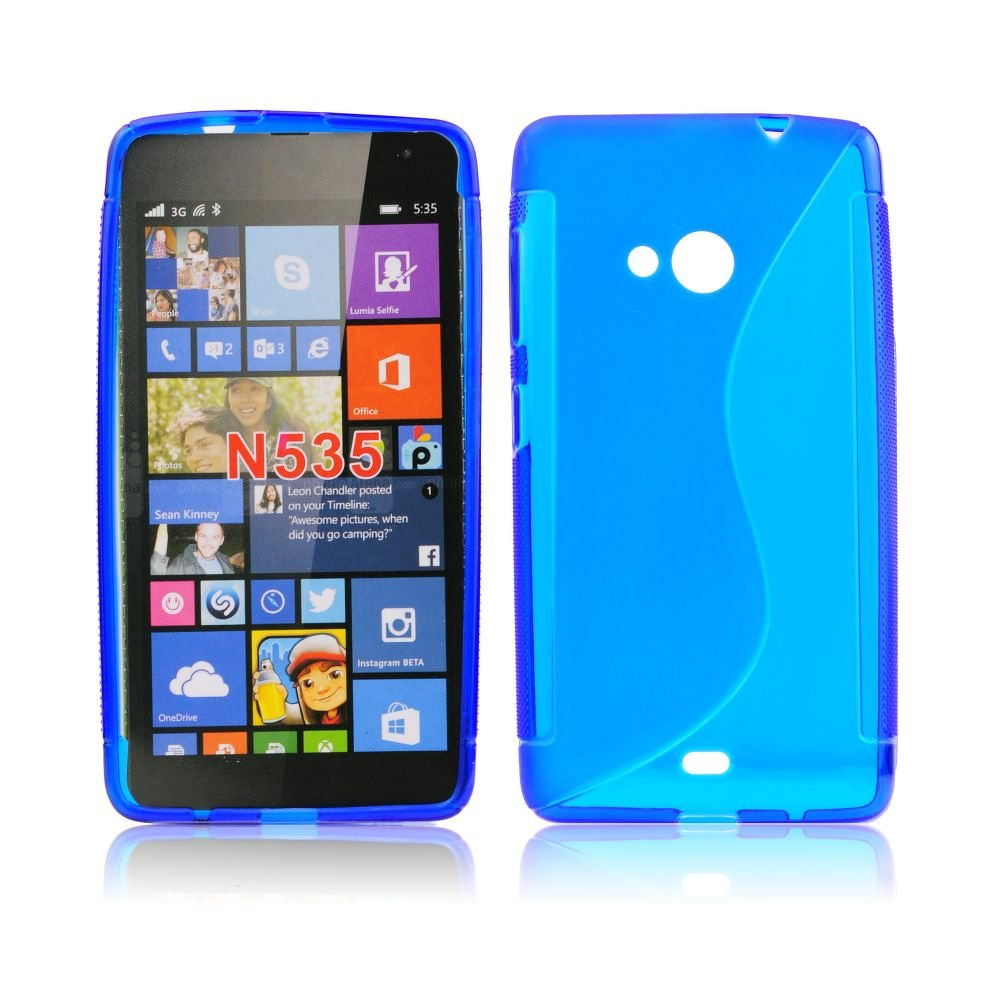 Back Case S-line - MICR Lumia 535 kék