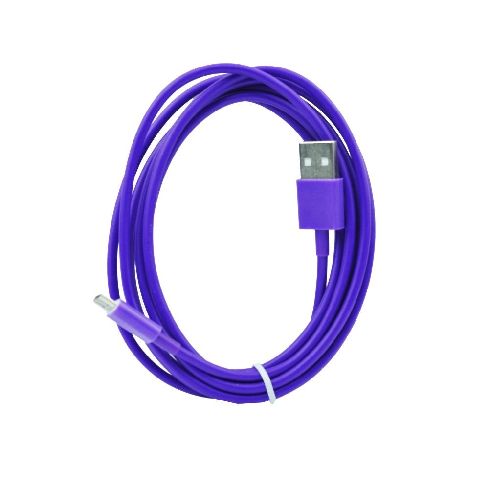 BlueStar USB - microUSB kábel (2m) - lila