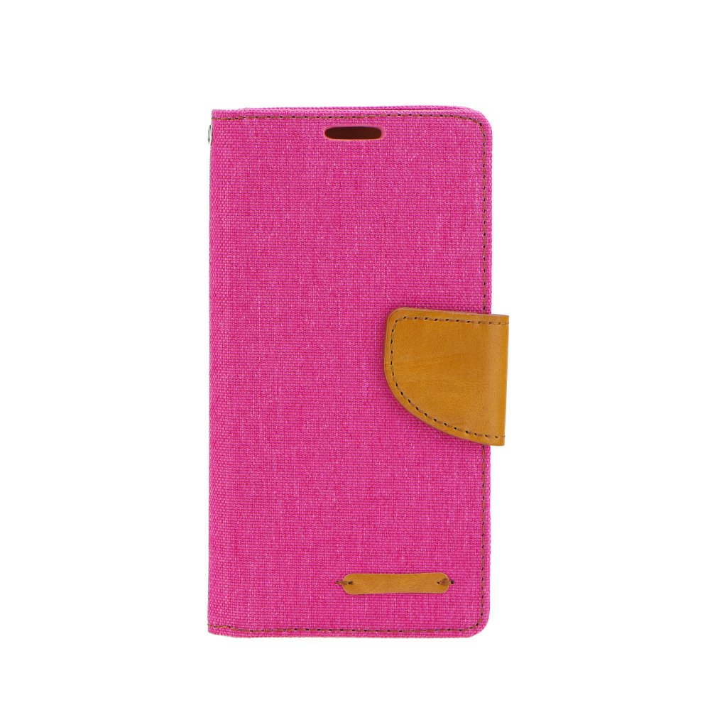 Canvas Book case - HUAWEI P8 Lite pink
