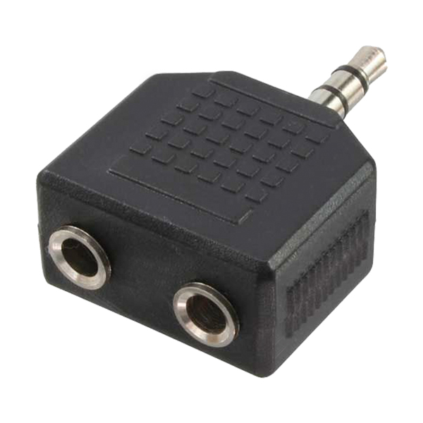 LogiLink Audio adapter, stereo 3,5mm apa - 2x stereo 3,5mm anya
