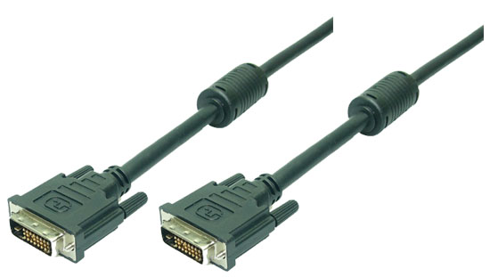 LogiLink DVI Cable,2x male,Dual Link, black,2M