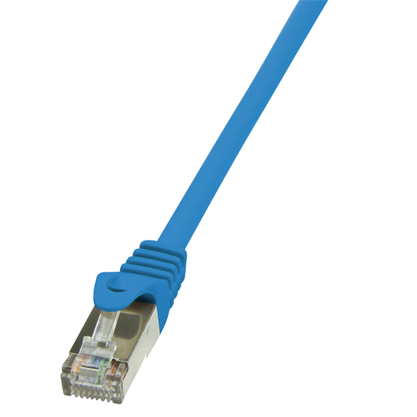 LogiLink CAT6 F/UTP Patch Cable EconLine AWG26 blue 10m