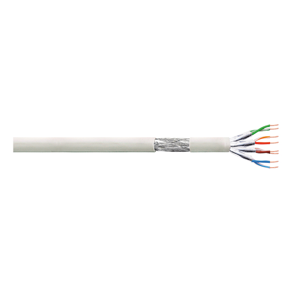 LogiLink Patch Cable S/FTP Cat.6 Cu PrimeLine PVC grey 100m