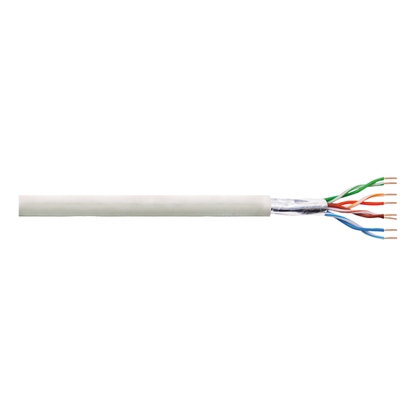 LogiLink Patch Cable F/UTP Cat.5e CCA EconLine PVC grey 100m
