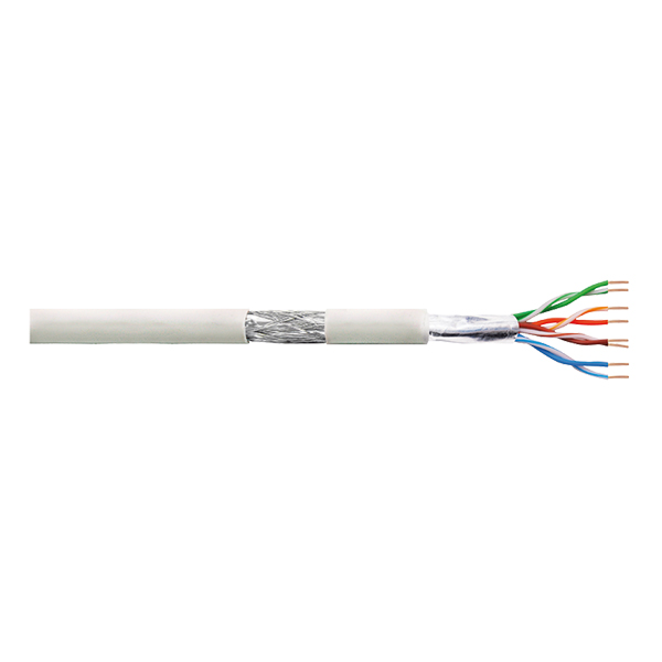 LogiLink Patch Cable SF/UTP Cat.5e CCA EconLine PVC grey 100m