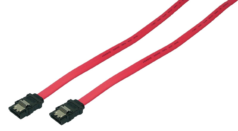 LogiLink S-ATA Cable,2x male,red,0,50M