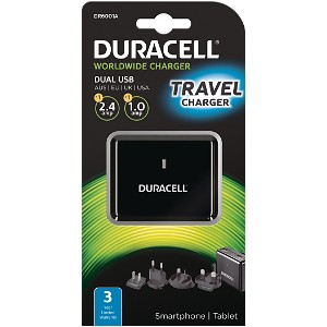 Duracell Dual USB Wall Charger 2.4A &1A
