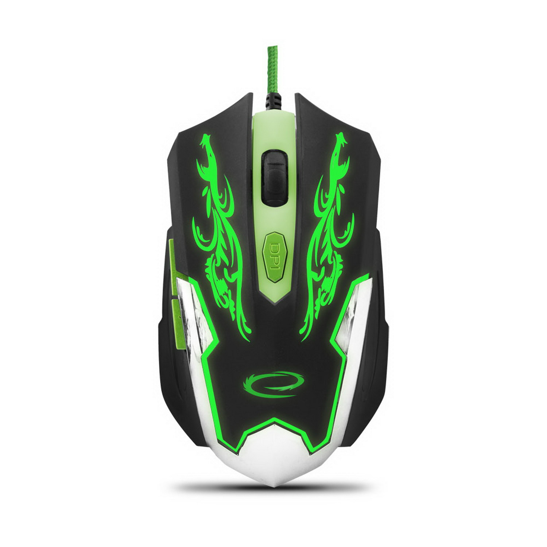 ESPERANZA CYBORG USB MX405 gamer egér Fekete/Zöld
