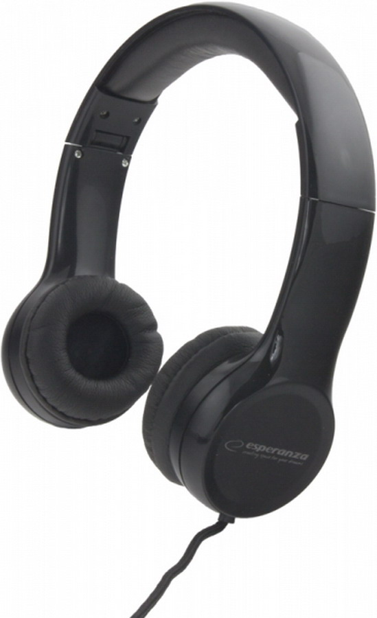 ESPERANZA Összehajtható sztereó fejhallgató (fekete)