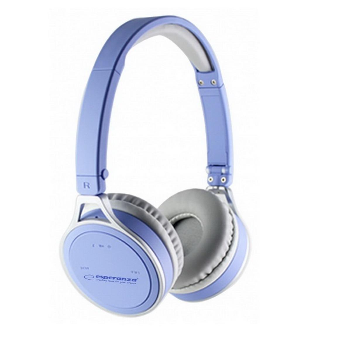 ESPERANZA YOGA Bluetooth mikrofonos sztereó fejhallgató - kék