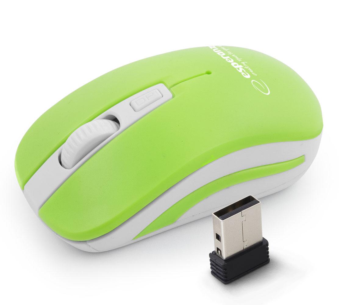 ESPERANZA URANUS 4D USB vezeték nélküli egér 2.4GHz (fehér/zöld)
