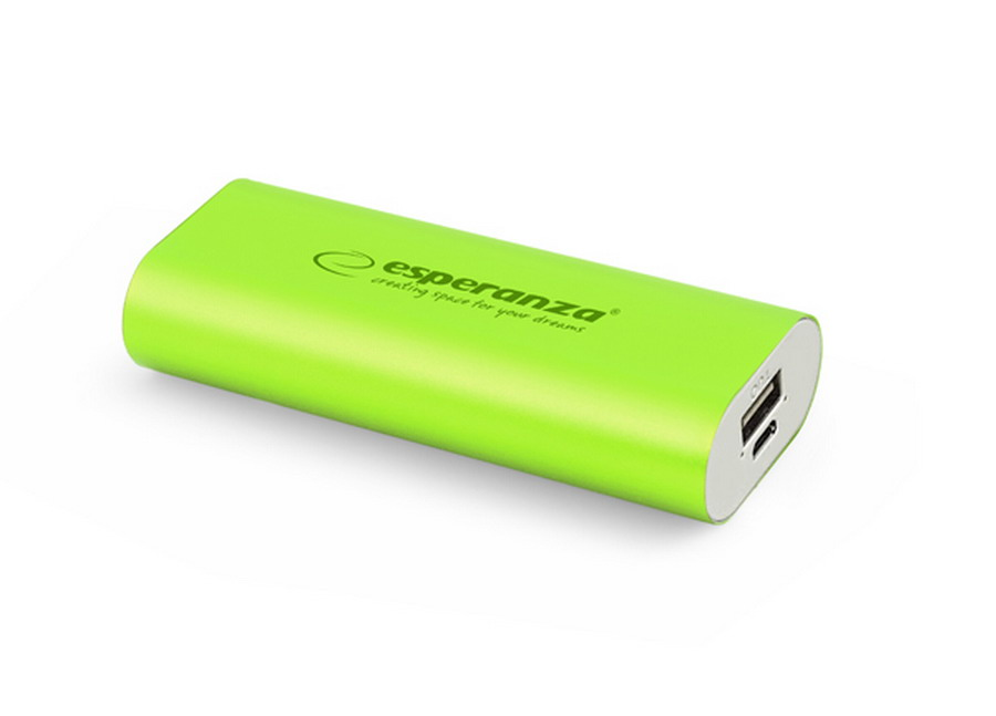 Esperanza HADRON power bank 4400mAh - zöld
