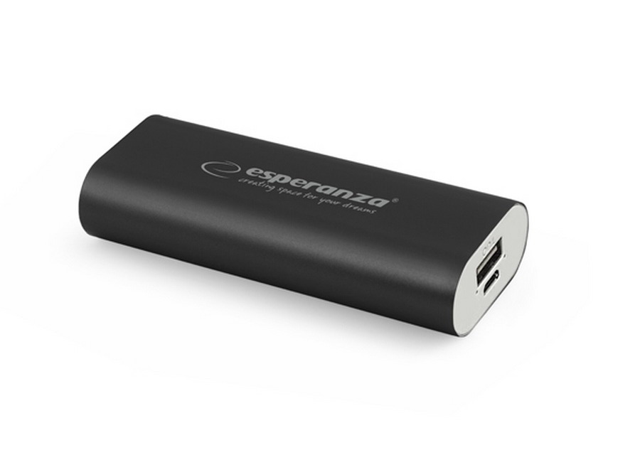 Esperanza HADRON power bank 4400mAh - fekete
