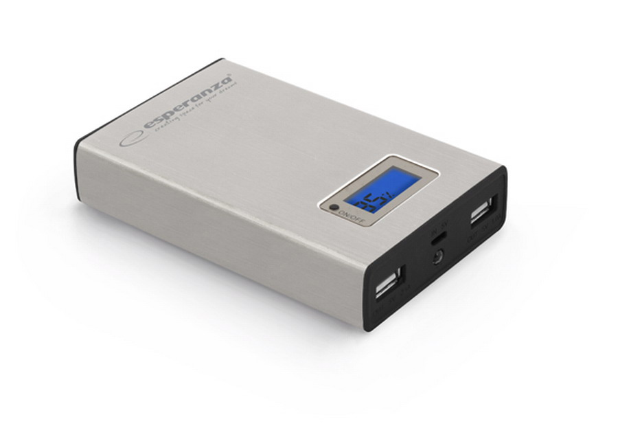 ESPERANZA Kinetic power bank 8400 mAh ezüst