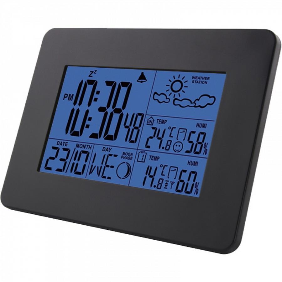 ESPERANZA CUMULUS időjárás állomás vezeték nélküli külső egységgel (fekete)