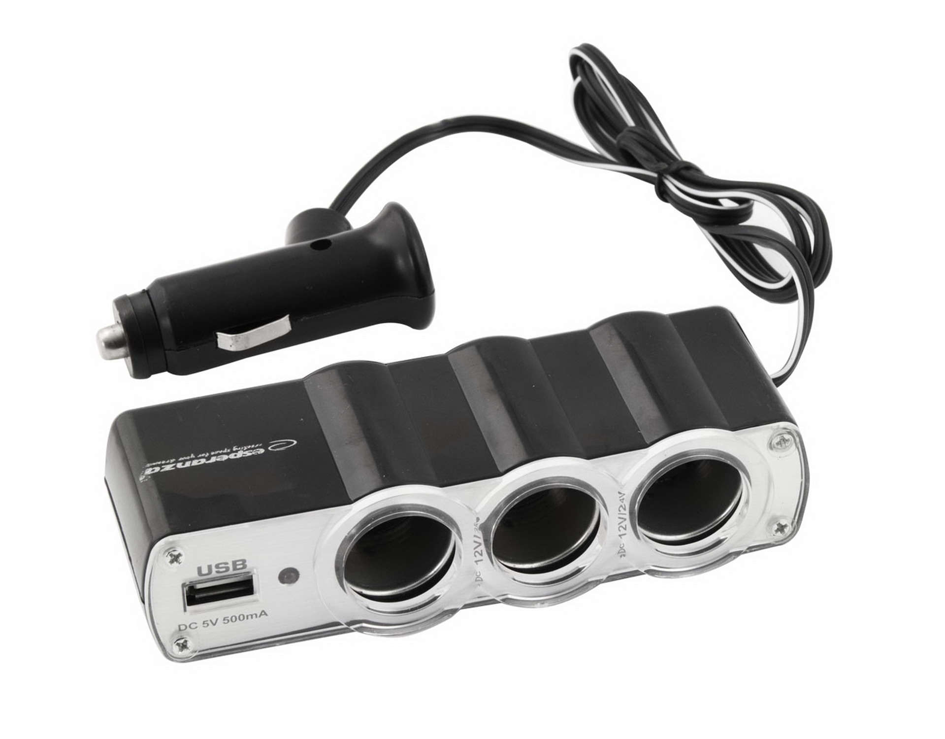 ESPERANZA CAR CIGARETTE LIGHTER SOCKET SPLITTER WITH 1 USB
