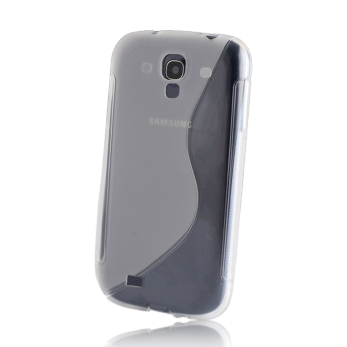 S case back cover for Samsung i8190 Galaxy S3 mini - átlátszó