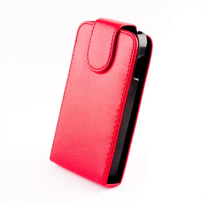 Leather case (Galaxy i8260) Piros