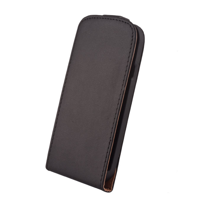 Leather case Elegance (Xperia Z1 mini) Fekete
