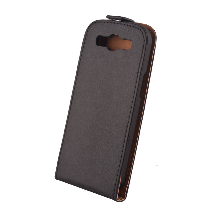 Elegance leather case (Samsung SM-G900F Galaxy S5) Fekete