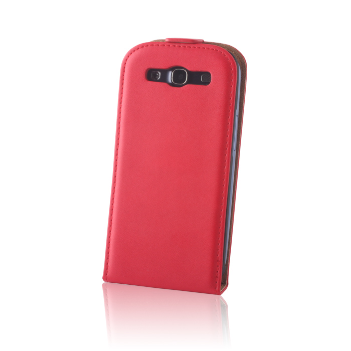 Leather case DeLuxe (Sam i9300 S3) Piros