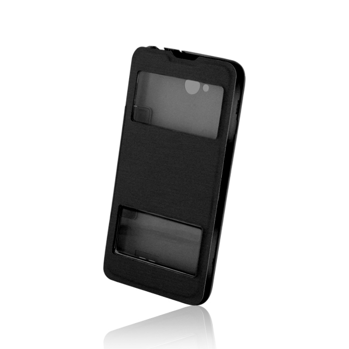 Smart Flap Case for Sam i9500 S4 fekete