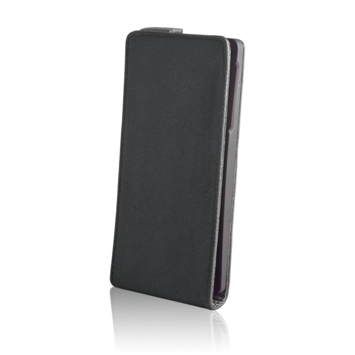 Leather case stand (Nokia 630/635) Fekete