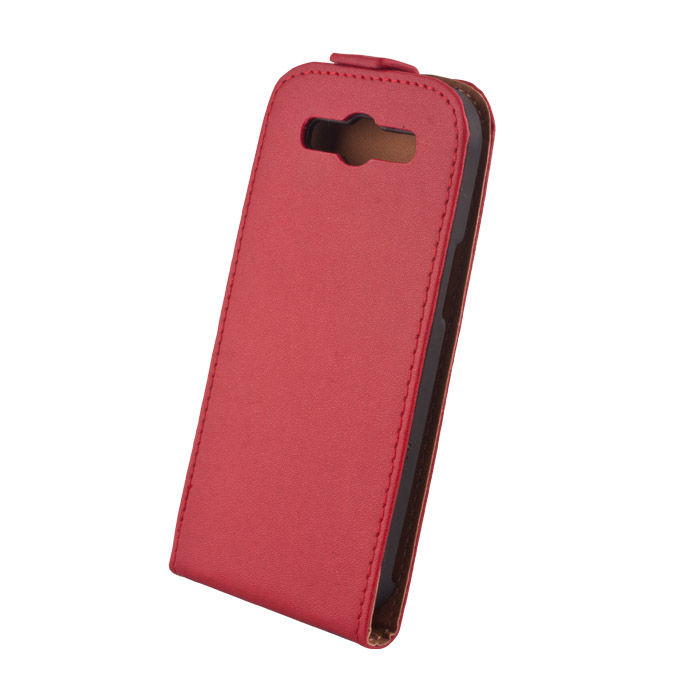 Leather case Elegance Sam. Ace4 flip tok piros